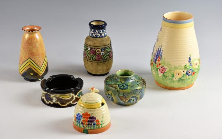 Art Deco pottery to include an Austrian Amphora '