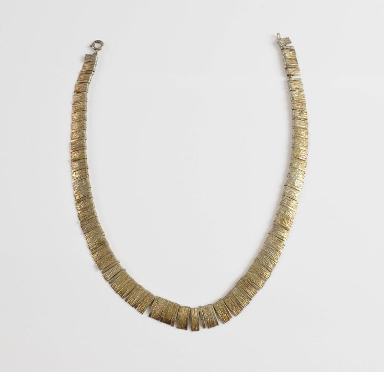 Swedish silver Cleopatra style necklace, the suspe