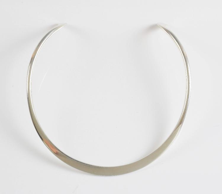 Georg Jensen torque neck ring, bearing London silv