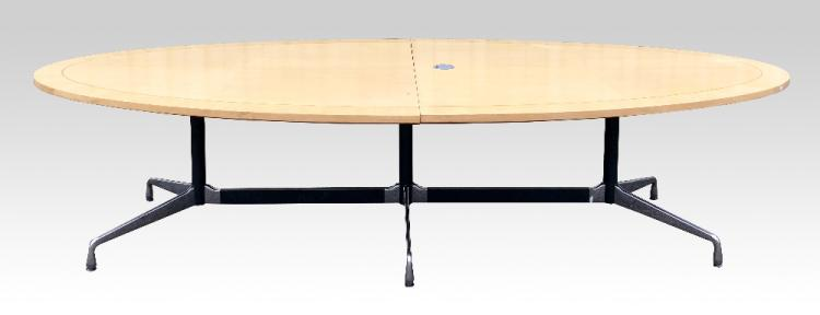 Charles Eames, a Vitra triple table base, with as