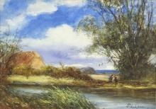 Percy Leslie Lara, British b. 1871-, 'Harvesting n