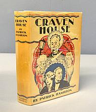 An rare original copy of Craven House by Patrick Hamilton (1927) First edition, published by Houghton Mifflin. In near fine condition with original dust jacket which is in very good condition.