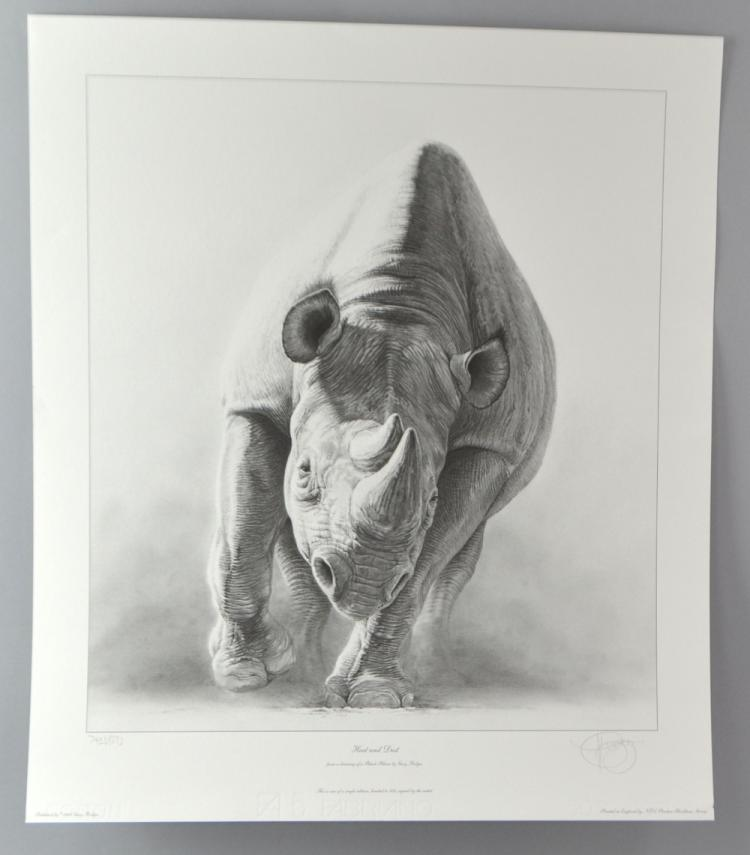 Gary Hodges 'heat and Dust' limited edition print