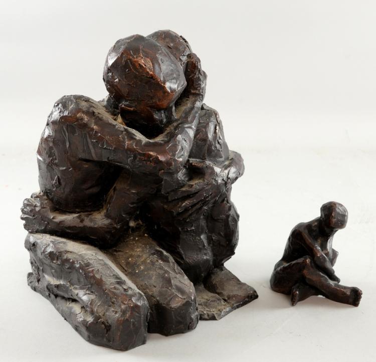 Carol Pearce limited edition Bronze resin sculptur