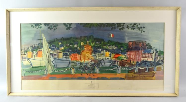 Raoul Dufy, (French, 1877-1953), framed lithograph