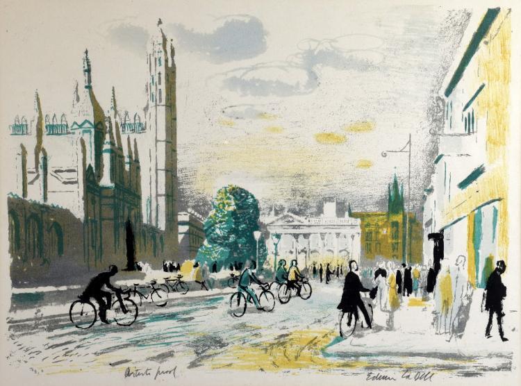 Edwin Ladell 1914-1970, 'Kings Parade Cambridge',