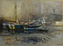 Jack Merriott RI, RWS (British, 1901-1968). Harbou