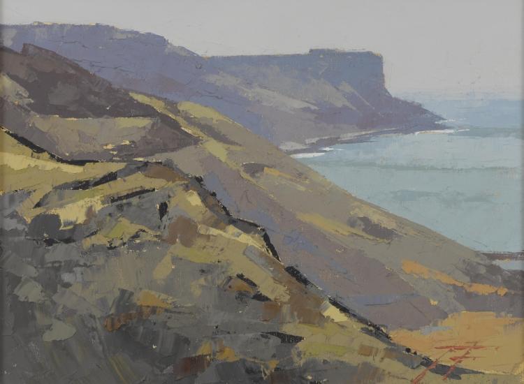 James Fry 1911-1985, Coastal landscape, St Aldhelm