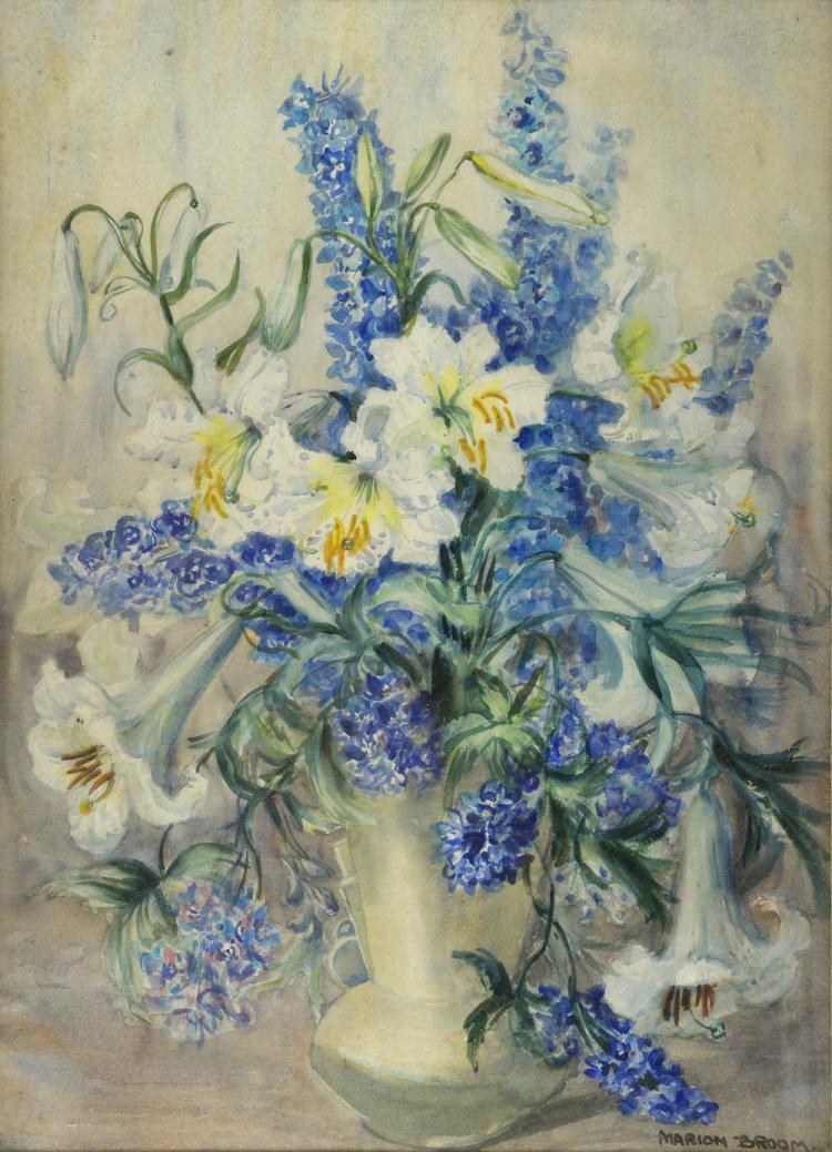 Marion L. Broom (1878-1962), watercolour, still li