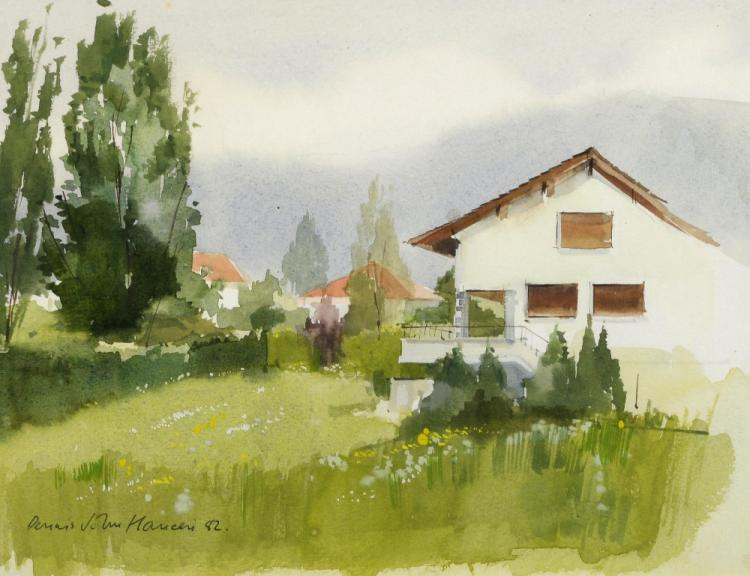 Dennis John Hanceri (British, b.1928). Watercolour