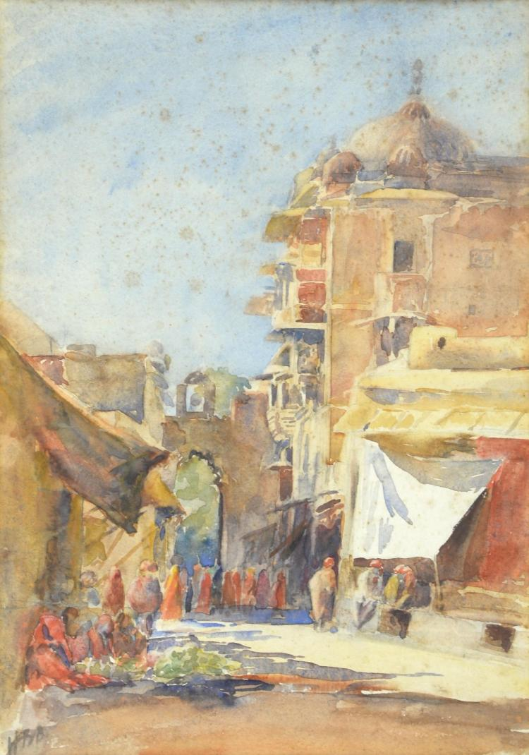 20th century street scene, Cairo. With monogrammed