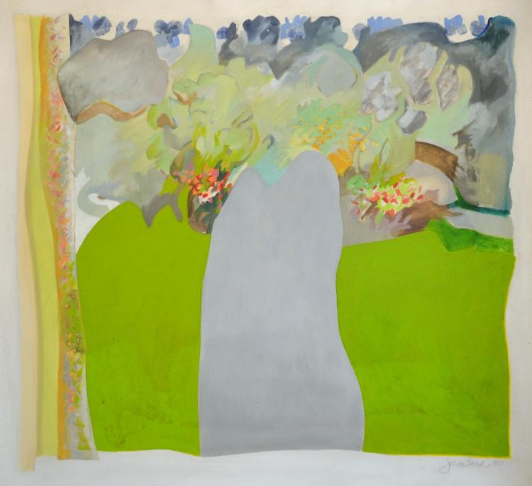 Julian Bond (British), 'Jack's Garden', acrylic on
