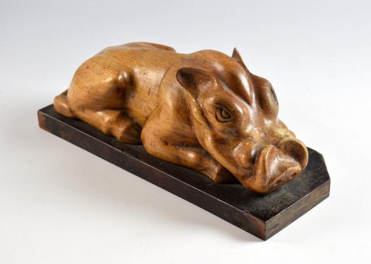 Raymond John (Jack) Coutu, b.1924, carved wood war