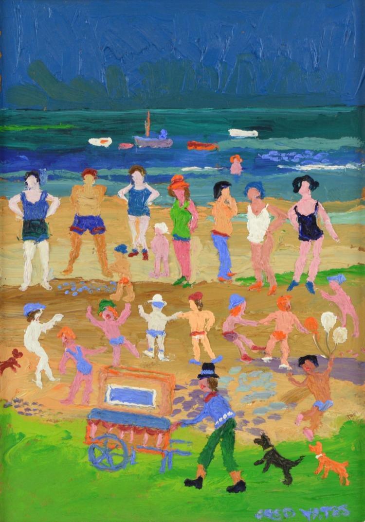 § Fred Yates (British, 1922-2008). 'Beach Entertai