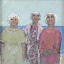 C.M. Richard. 'Cis, Ann & Daisy', mixed media on b