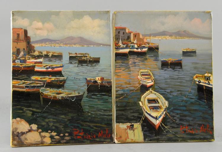 Patrizio Mela, 20th century, pair of Mediterranean