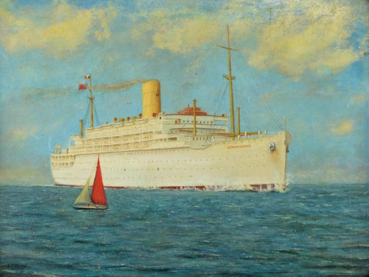 G. J. Duke, 20th century, 'Ocean Liner Stratheden'