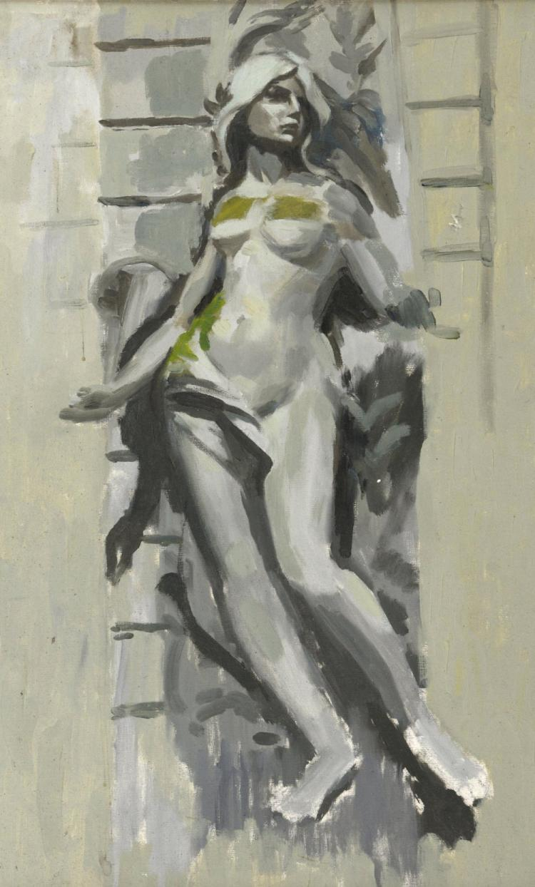 Peter Brian Wardle, 20th century, nude study in sh