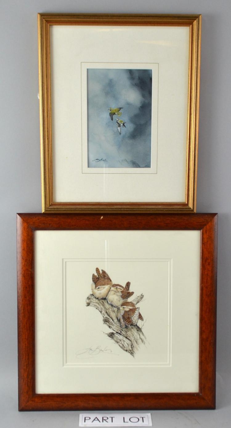 Ian Bowles (British 1947) Study of Goldfinch signe