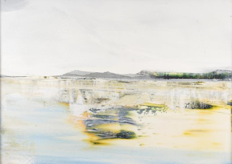Shazia Mahmood 'Looking from Inverie' oil on canva