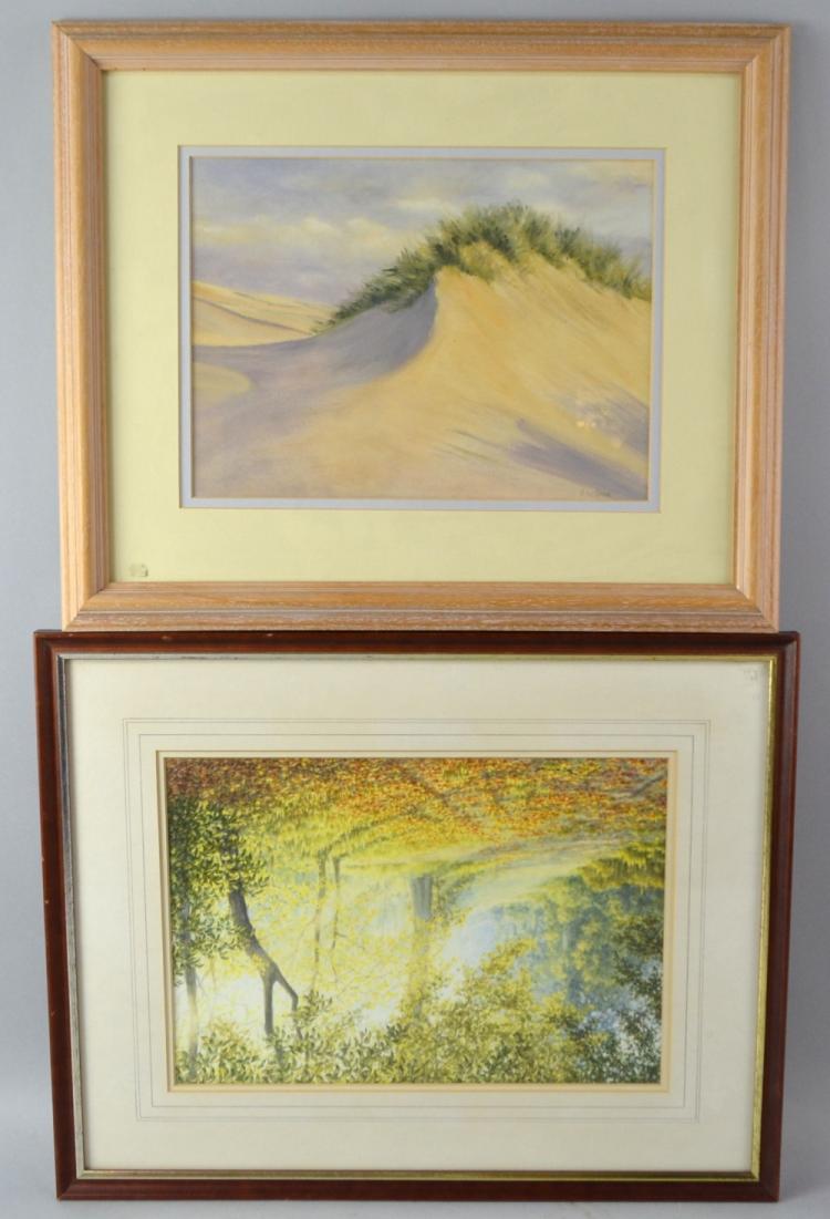 Maureen Welfare study of a Sand dune, watercolour