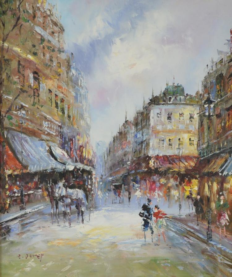 Randall Davey (1887-1964) depicting a Parisian Sc