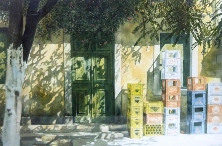 M Wood 'Afternoon Shadows' limited edition print,