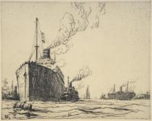 After Nelson Dawson, a dry point etching of a Stea