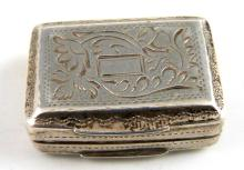 George IV silver vinaigrette with gilt interior an