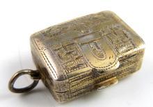 William IV silver gilt vinaigrette in the form of