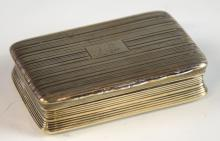 George III silver snuff box with gilt interior and