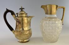 Victorian silver coffee-pot, the body by Lambert &