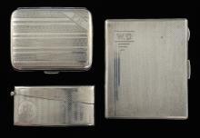 George V silver presentation cigarette case with e