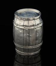 Novelty sterling barrel money box, 7 cms