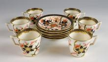 Stevenson and Hancock Crown Derby set of six coffe