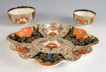 Stevenson and Hancock Crown Derby shaped dessert d