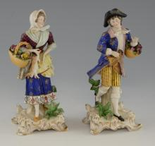 Pair of early 20th century German porcelain figure