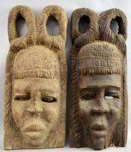 Two wooden Dogon masks, Mali, 20th century, 66 cm