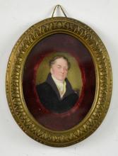 19th Century portrait miniature of gentleman in a