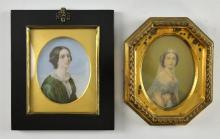 19th Century portrait miniature of a young woman i