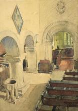 Alfred George Webster (British, -1894). Architectural study. Watercolour, signed. Framed and glazed. Picture size: 35 x 26cm.
