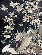 Chinese silk panel decorated with birds