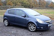 2010 Vauxhall Corsa SXI 5 door hatchback, 1400cc, registration DL10 XFS, 56,000 miles approx, Executor Estate, blue, petrol,