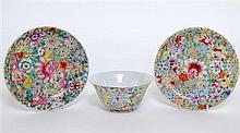 Chinese mille-fleur bowl (diameter 5.75
