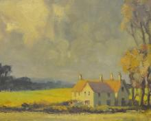 Roy Petley - oil on board, Cottage in la