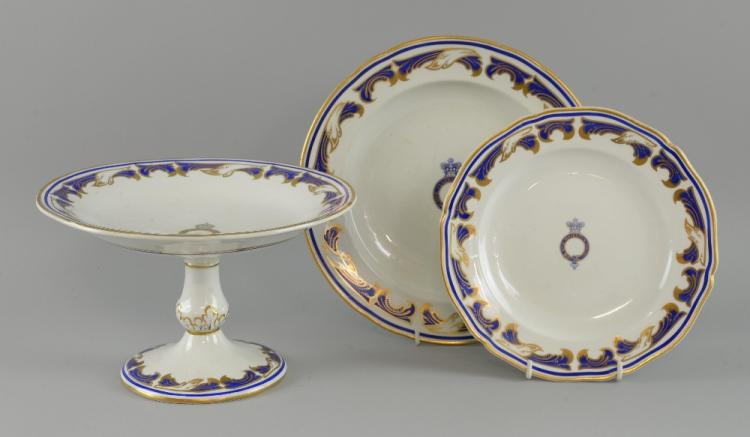 Two Copeland Staffordshire plates from Royal Yacht Osborne (Queen Victoria/ Edward VII) & Two Copeland Staffordshire plates from Royal Yacht Osborne