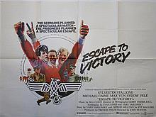 Escape To Victory (1981) British Quad film poster, starring Sylvester Stallone, Michael Caine & Pele, Lorimar,