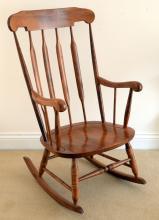 Beechwood rocking chair,