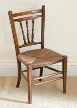 Childs beech wood framed rush seated cha