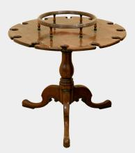 Regency mahogany circular ship's decante